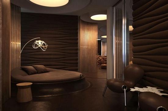 Дизайн интерьера в коричневых тонах